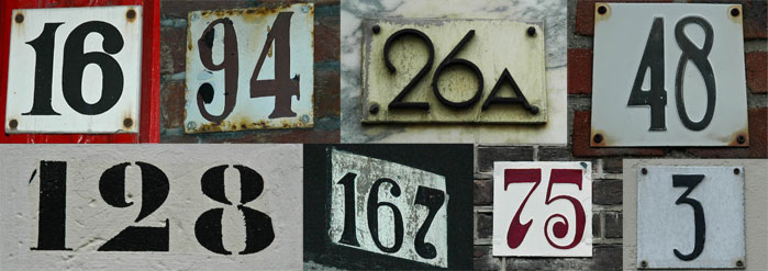 Den Haag House Numbers