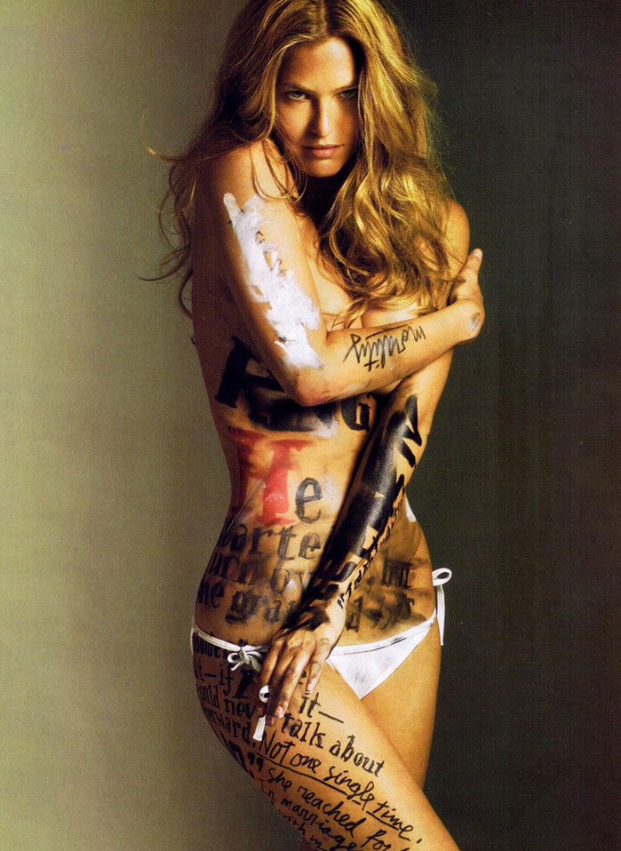 Esquire July 2009 - Bar Refaeli with hot typography