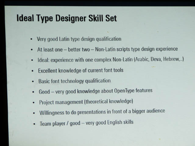 Ideal Type Designer Skill Set