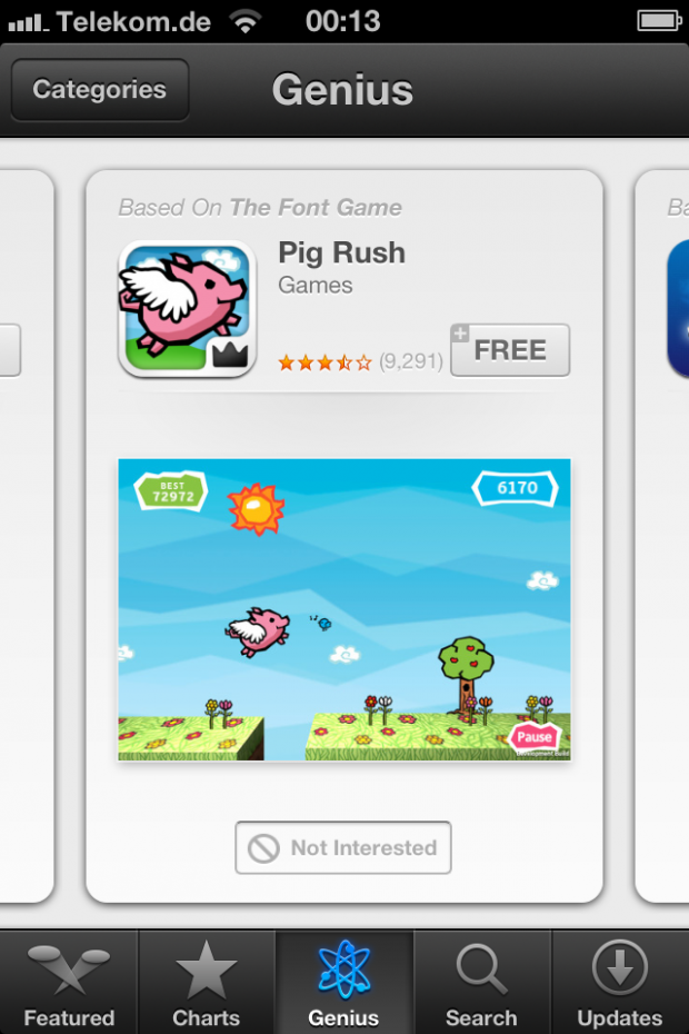 If you like The Font Game then you'll love Pig Rush!