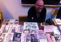 @ultrasparky looking good with his good looking zines at Zinefest!