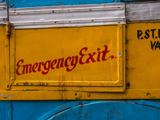 Kolkata Bus Emergency Exit