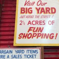 Reno's Twin City Surplus is filled with nice hand painted signs