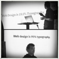Web design is ?% typography.