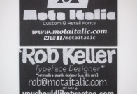 Rob's crazy new screen printed business cards that...