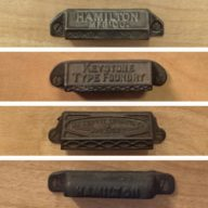 Upgraded our desks with these great vintage type case handles