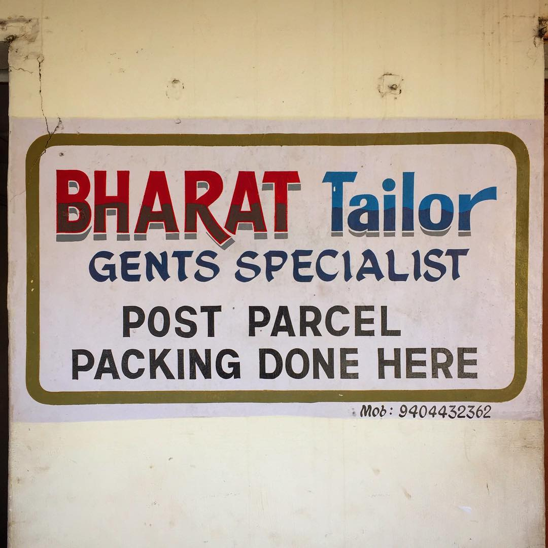 I really like the wonkier hand painted signs...