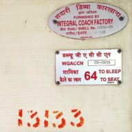 I've come to love the stencils and type on Indian trains