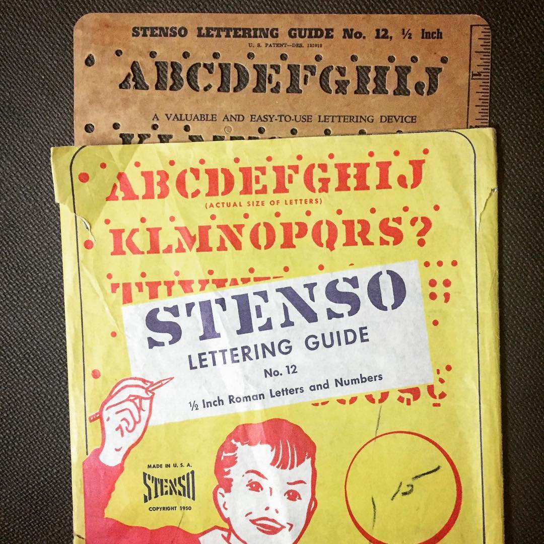 Late 1940s Or Early 1950s Stenso Lettering Guide
