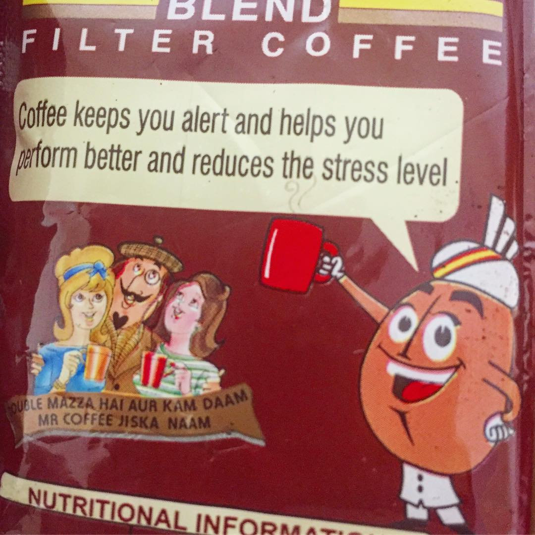 Coffee keeps you alert and helps you perform…