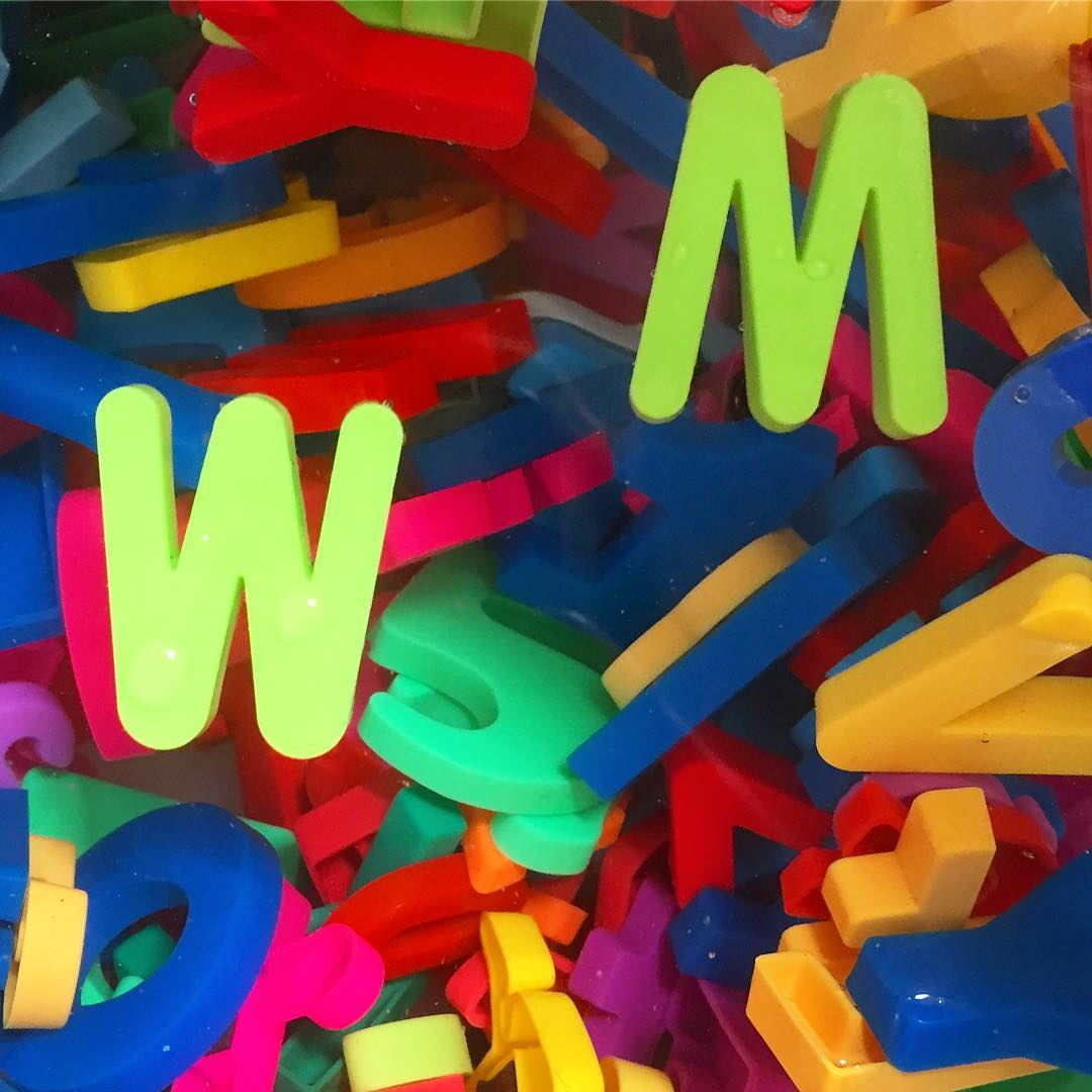 Colorful letters! W & M or M &…