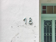 Antibes House Numbers